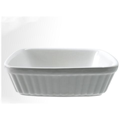 HOME Pirofila Quadrato Ceramica Cm 16x16x4 Pentole E Preparazione