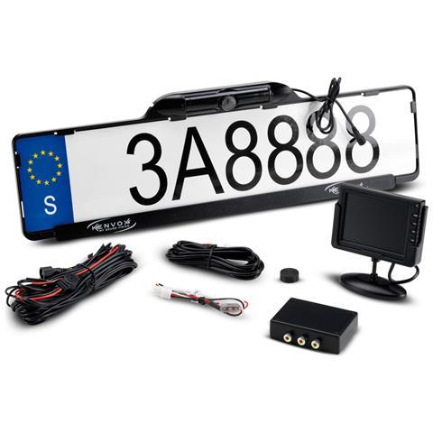 Portatarga Con Retrocamera 170° Universale Per Auto E Camion