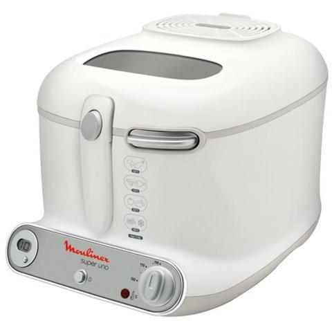 AM3021 Super Uno Friggitrice Capacità 2,2 Litri Potenza 1800 Watt Colore Bianco