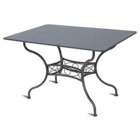 Tavolo da Giardino Rettangolare in Ferro 150x90x74 cm