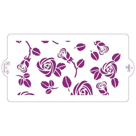 Decora® Stencil Rose Per Zioni Su Pasta Di Zucchero