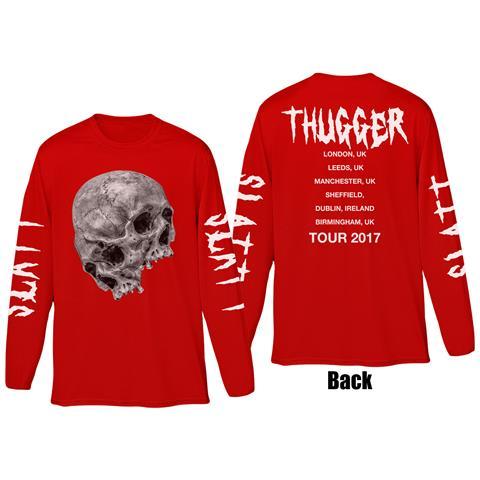 ROCK OFF Young Thug - Thugger Skull (Back & Sleeve Print) (Maglia Manica Lunga Unisex Tg. XL)