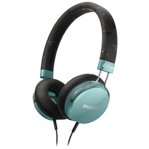 PHILIPS Cuffia On Ear Citiscape Fixie SHL5300TL ad Archetto Colore Azzurro