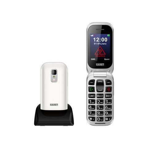 "SAIET Unico+ Senior Phone Display 2.4"" + Slot MicroSD Fotocamera Tasti Grandi e SOS Colore Bianco - Italia"