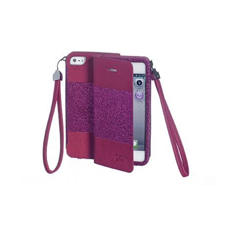 CELLY Custodia Glitter per iPhone 5S - Fucsia