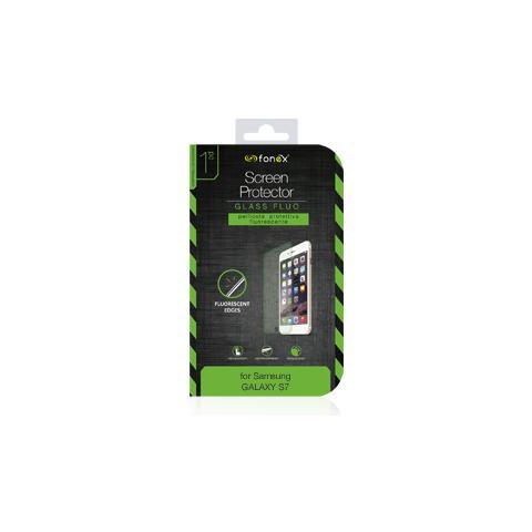 FONEX Protezione Schermo in Vetro Temperato con Bordi Fluorescenti per Galaxy S7 (1Pz)
