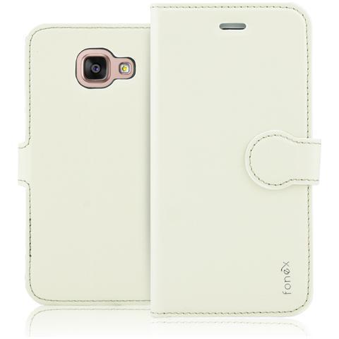 FONEX Identity Book Custodia a Libro per Galaxy A5 (6) Colore Bianco