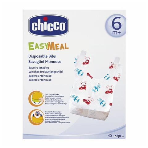CHICCO Confezione 40 Bavaglini Monouso 6+ Mesi