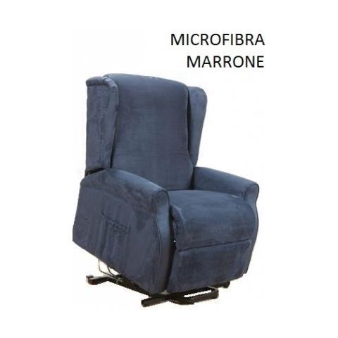 Casa ABC Poltrona Alessia Microfibra Marrone Con Funzione di Alzata In Piedi Elettrica