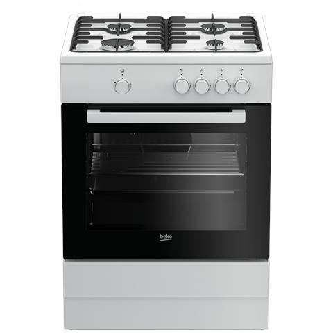 Cucina A Gas FSG62000DW 4 Fuochi Forno A Gas Classe A Colore Bianco