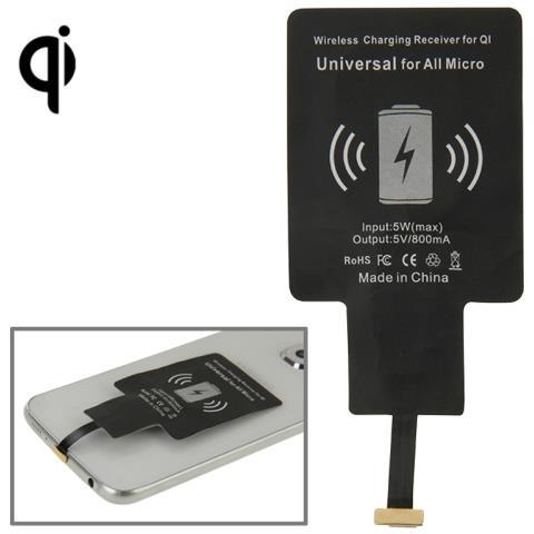 NetworkShop Ricevitore Di Ricarica Wireless Per Qi Universale Per Smartphone Micro Usb