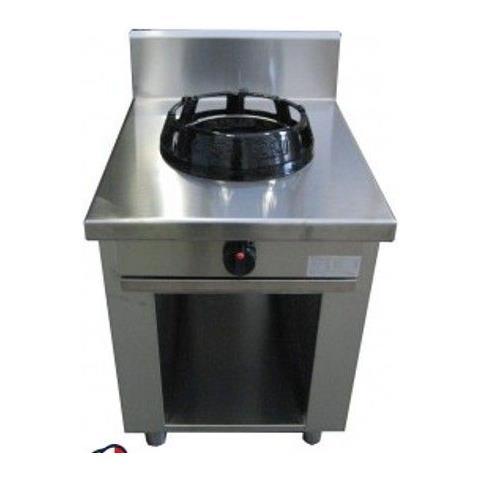 Cucina Wok etnica cinese giapponese a gas - 1 fuoco su vano a giorno 500x500X850h mm