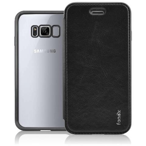 FONEX Flip Cover Custodia Sparkling in TPU per Galaxy S8 - Nero