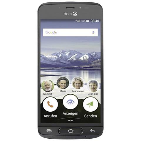 """Doro 8040 Grigio 16 GB 4G / LTE Display 5"""" HD Slot Micro SD Fotocamera 8 Mpx Android Italia"""