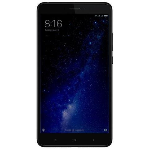 Mi Max 2 Nero 64GB 4G / LTE Dual Sim Display 6.4'' Full HD Slot MicroSD Fotocamera 12Mpx Android -Europa
