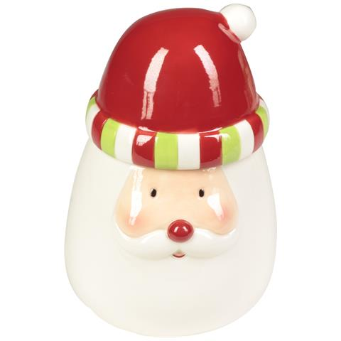 Biscottiera Natalizia Soggetti Assortiti - Biscottiera Santa Claus 15x20cm