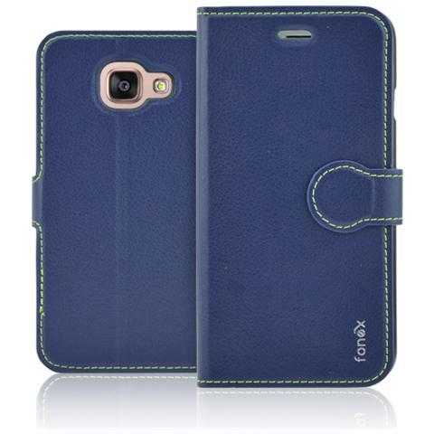 FONEX Identity Book Custodia a Libro per Galaxy A5 (6) Colore Blu