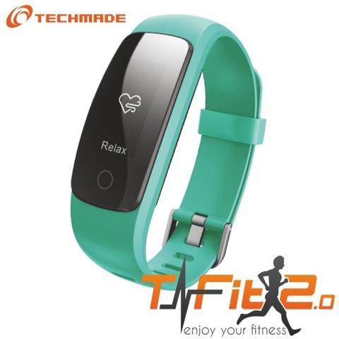 "Techmade Activity Tracker T-Fit 2.0 Resistente all'acqua IP67 Display 0.96"" Bluetooth con GPS e Cardiofrequenzimetro Verde – Italia"