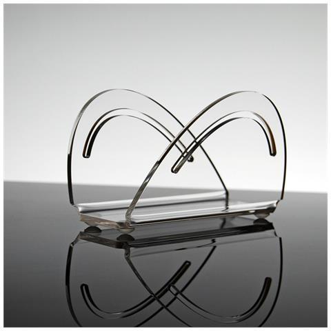 Portatovaglioli Porta Tovaglioli Da Tavolo Design Moderno In Plexiglass Trasparente Aloe