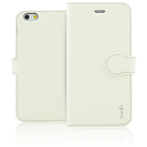 FONEX Identity Book Custodia a Libro per iPhone 6/6S Colore Bianco