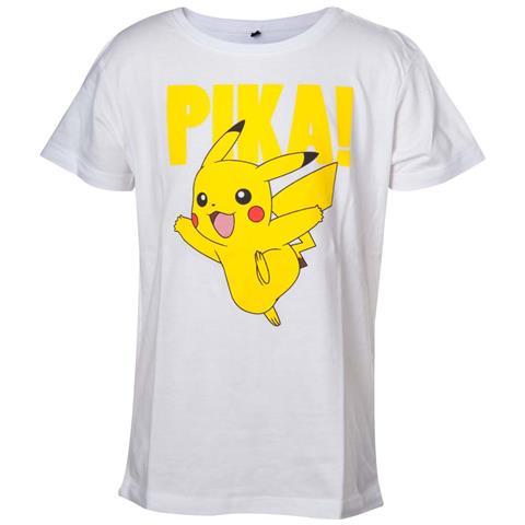 BIOWORLD Pokemon - Kids White Pikachu (T-Shirt Bambino 134/140cm)