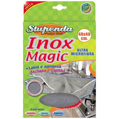 LA BRIANTINA Panno Magic Acciaio Inox 40x40 Cm