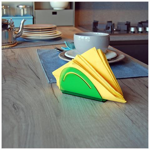 Portatovaglioli Porta Tovaglioli Da Tavolo Design Moderno In Plexiglass Aloe - Colore Verde