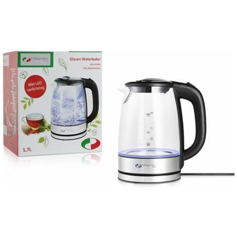Bollitore Acqua Elettrico - Con Led E Spegnimento Automatico - Capacità 1.7 L - Potenza 1850 - 2200w