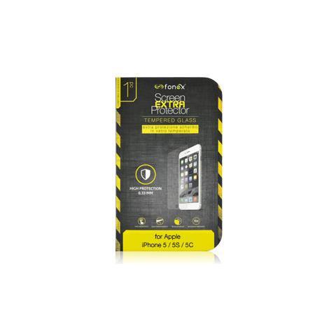 FONEX Protezione Schermo in Vetro Temperato per iPhone 5/5S / 5C / SE (1Pz)