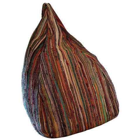 Stones Pouf Realizzato In Tessuto Cotone Multicolor Bean Bag 3 Ca 019