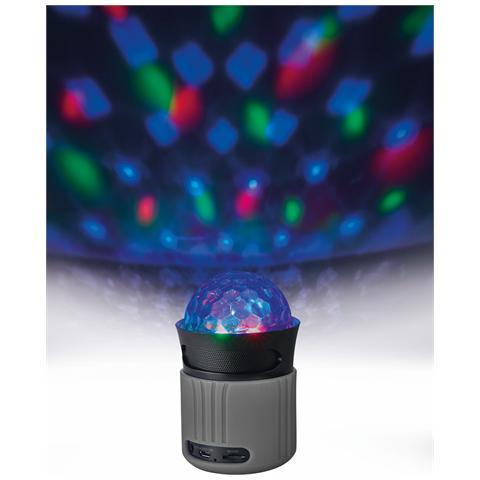 TRUST Speaker Audio Dixxo Go Wireless Bluetooth con Giochi di Luce Multicolori