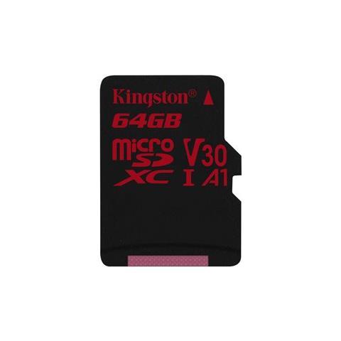 KINGSTON MicroSD da 64GB UHS-I 100MB / s in lettura e 80MB / s in scrittura