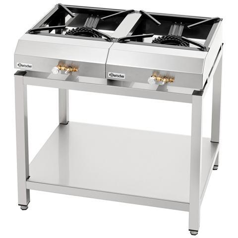 1058753 Tavolo piano cottura con 2 fornelli a gas 1 x 7,25 kW