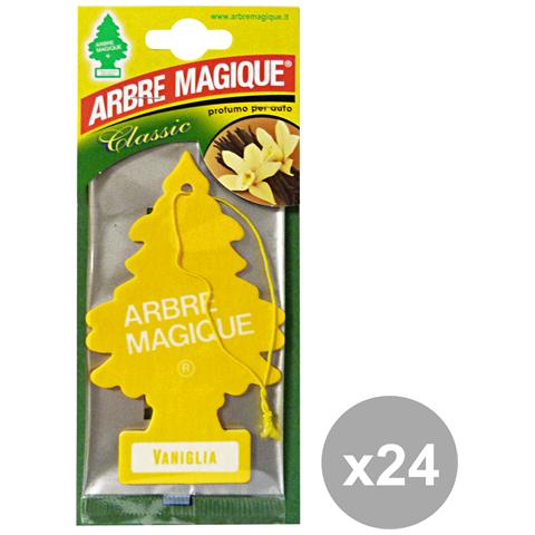 Arbre Magique Set 24 Deodorante Vaniglia Accessori Auto