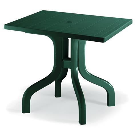 Tavolo Ribalto Contact Verde in Resina 80x80 cm