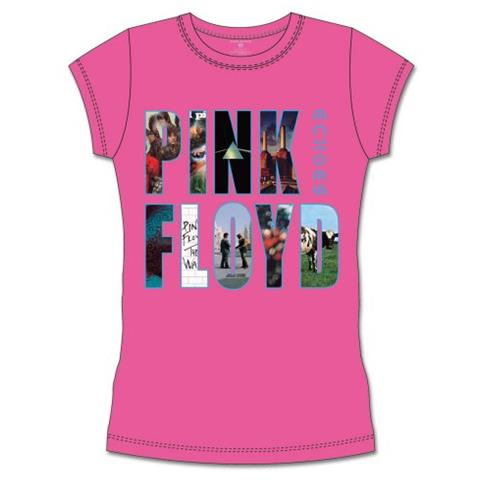 ROCK OFF Pink Floyd - Echoes Album Montage (T-Shirt Donna Tg. S)