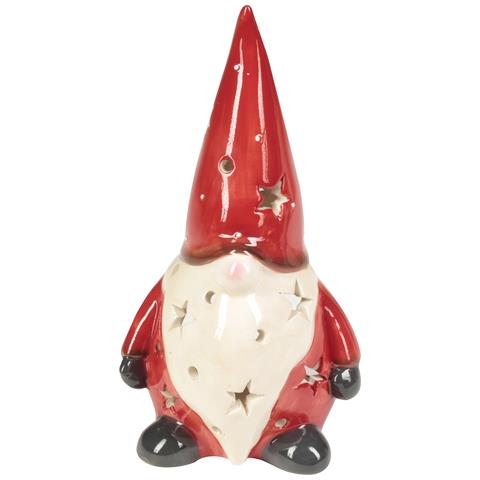 Porta Candela T Light / vaso Santa Claus - Porta Candela T Light Santa Claus H 11