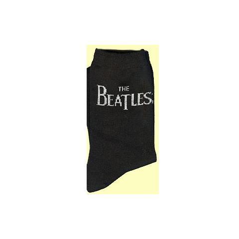 ROCK OFF Beatles (The) - Drop T Logo Horizontal Black (Calzini Uomo)