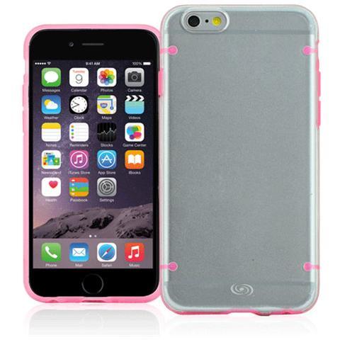 FONEX Mellow Cover in Morbido TPU per iPhone 6/6S Colore Trasparente / Rosa