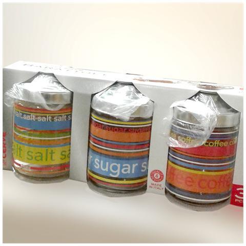 CERVE Confezione da 3 barattoli sale-zucchero-caffè