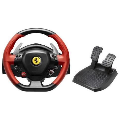THRUSTMASTER [ Ricondizionato GOLD] Volante + Pedali Ferrari 458 Spider per Xbox One
