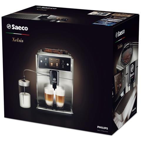 Xelsis SM7683/00, Macchina da caffè automatica, con Macine in ceramica, Filtro AquaClean, Coffeee Equalizer e display Touch, Caraffa Latte Esterna
