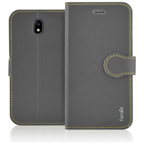 FONEX Flip Cover Custodia Identity Per Sgh Galaxy J7 2017 - Grigio
