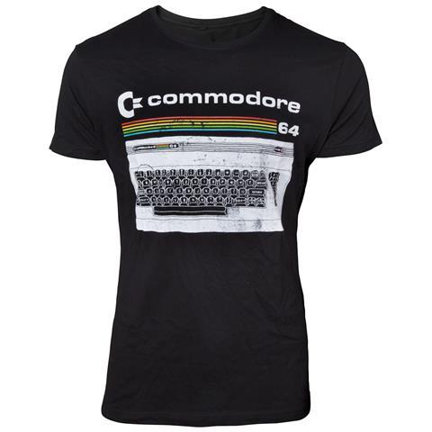 BIOWORLD Commodore 64 - Classic Keyboard Black (T-Shirt Unisex Tg. S)