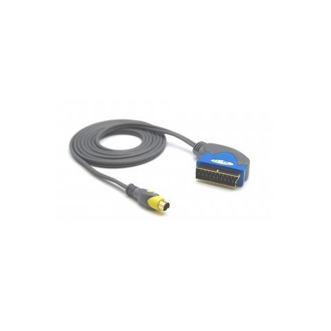 GeBL Cavo di raccordo Video Scart-SVHS Home Theater HI-FI Sistem, 1m
