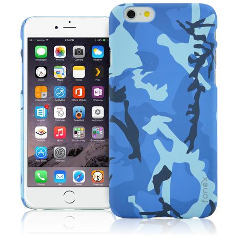 FONEX Silky Lumy Cover Rigida Luminescente con Texture Mimetica per iPhone 6/6S Colore Blu