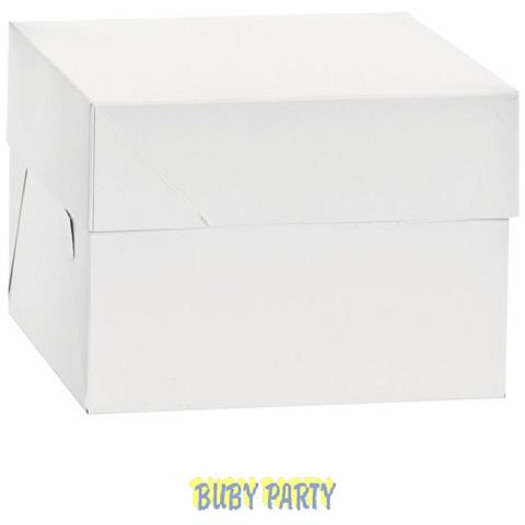 Scatola Porta Torta A Piani Alta 25 Cm Decora - Cm 26,5x26,5x25h