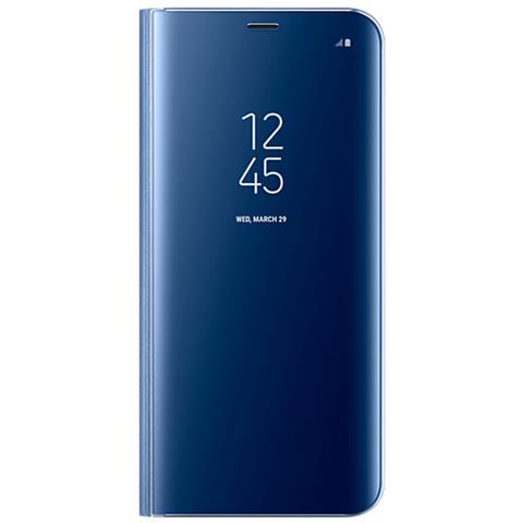 SAMSUNG Custodia Clear View Standing per Galaxy S8 Plus Colore Blu RICONDIZIONATO