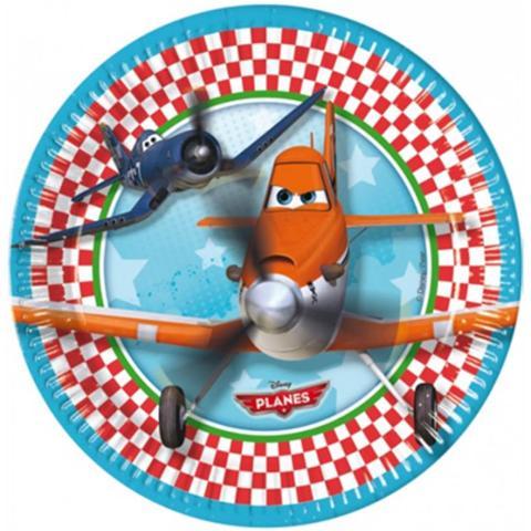 COMO GIOCHI Planes - 8 Piatti 23 Cm