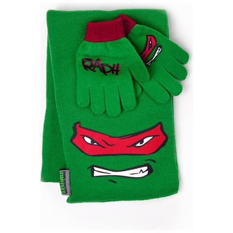 BIOWORLD Teenage Mutant Ninja Turtles - Scarf And Gloves, Raphael (Sciarpa E Guanti)